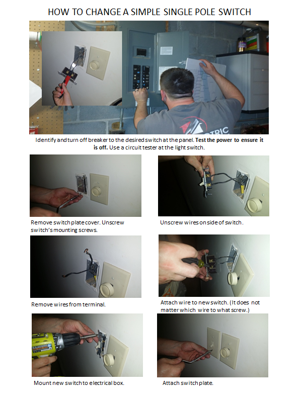 how to change a switch right